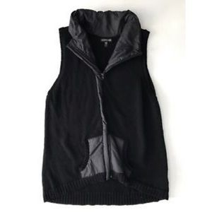 Eileen Fisher Wool Knit Vest With Pockets Size M